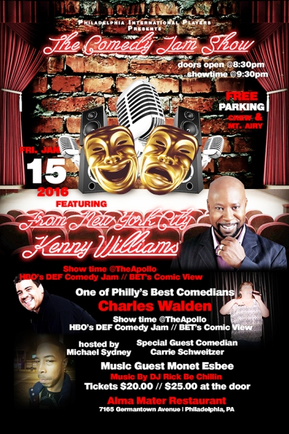 Phila Int Players Jan 15th 2016 Comedy Jam Show